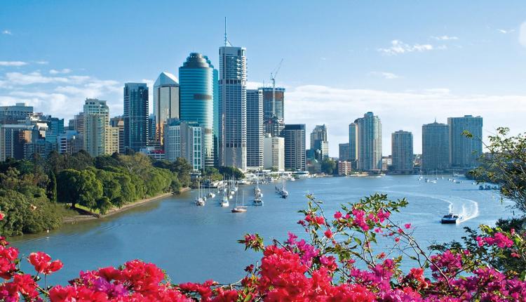 Thành phố Queensland nhìn từ trên cao